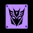 Decepticon_Plate.STL Download free STL file Decepticon Transformers LED Nightlight/Lamp • 3D print model, Balkhagal4D