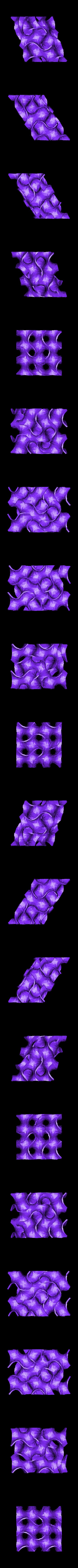 gyroid-slice_2.stl Télécharger fichier STL gratuit Tranches de thyroïde • Modèle imprimable en 3D, Balkhagal4D