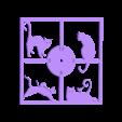 RELOJ_GATOS.stl Download free STL file Reloj de pared gatos • 3D printer template, 3dlito