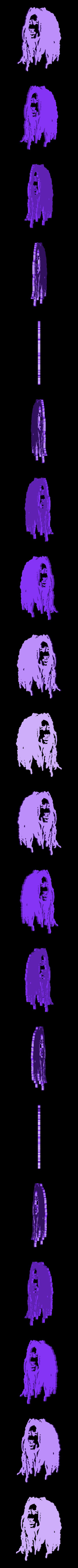 9.Bob Marley.stl Download STL file Low Poly Face Wall Sculpture 2D • 3D printable object, UnpredictableLab