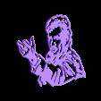 14.Johnny Hallyday.stl Download STL file Whale Wall Sculpture 2D • 3D printable object, UnpredictableLab