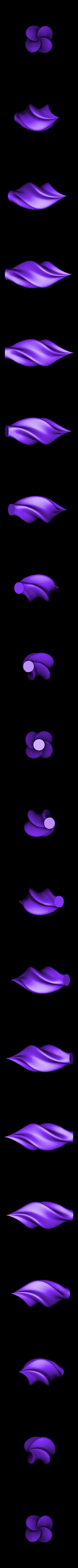 bauble.stl Télécharger fichier STL gratuit Twisty icicle ornement de Noël arbre de Noël • Modèle pour imprimante 3D, arpruss