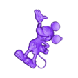 mickey_mouse_keychain_v2_fixed.stl Download free STL file Mickey Mouse Keychain • 3D printing design, 3dlito