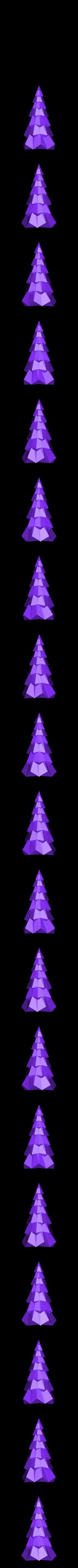 Christmas Tree.stl Télécharger fichier STL gratuit Sapin de Noël Low Poly • Modèle pour imprimante 3D, sammy3