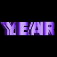year 2019 avec support.stl Télécharger fichier STL gratuit YEAR 2019 • Objet pour imprimante 3D, NOP21