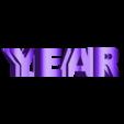 year 2019 sans support.stl Télécharger fichier STL gratuit YEAR 2019 • Objet pour imprimante 3D, NOP21
