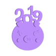 2019pig-Keychain (4).stl Download free STL file 2019 HAPPY CHINESE NEW YEAR-YEAR OF The Pig Keychain • Model to 3D print, mingshiuan