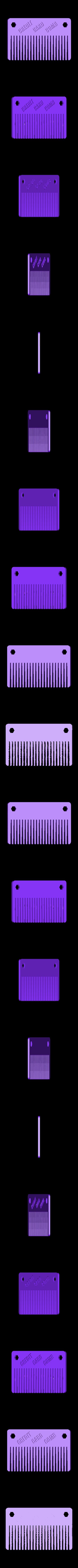 Pocket_Comb_Logo_fixed.STL Download free STL file Credit Card Comb • 3D print template, Witorgor