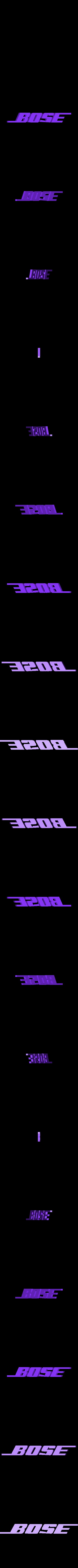 BOSE BLANC.stl Télécharger fichier STL gratuit porte clés BOSE • Modèle pour imprimante 3D, 10E9