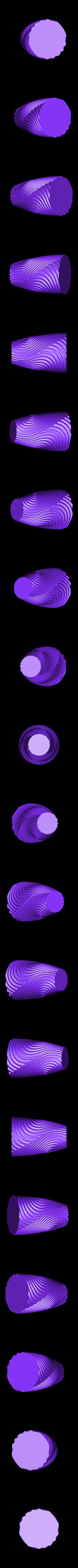 ripple_twist_vase_dense_low_quality.STL Télécharger fichier STL gratuit Vase torsadé gMax pour vase à ondulation torsadée • Plan pour impression 3D, gCreate