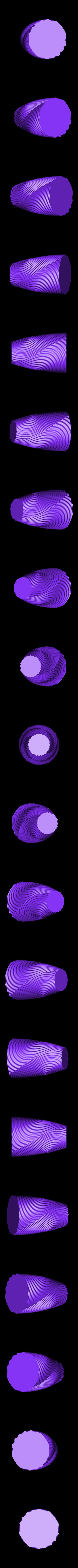ripple_twist_vase_dense_high_quality.STL Télécharger fichier STL gratuit Vase torsadé gMax pour vase à ondulation torsadée • Plan pour impression 3D, gCreate