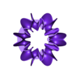 Blossoming_Tree_Flower_Support_01.stl Download free STL file Ghostly Wave Loop • 3D printable model, Pwenyrr