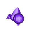 Duck_with_leg_MW.stl Télécharger fichier STL gratuit Numérisation 3D du papier DUCK • Objet pour imprimante 3D, Pwenyrr