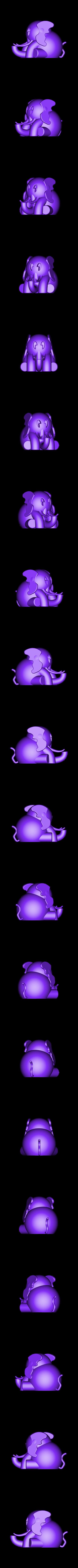 elephant_solid.obj Download free OBJ file Elephant #MakerEdChallenge • 3D printable design, Pwenyrr