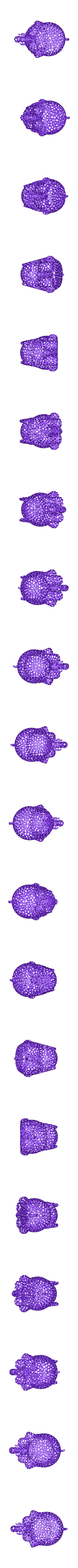 elephant_voronoizationed.stl Download free OBJ file Elephant #MakerEdChallenge • 3D printable design, Pwenyrr