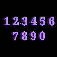 NUMBERS.stl Télécharger fichier STL gratuit NUMÉROS • Modèle pour impression 3D, jhonatanmujicag