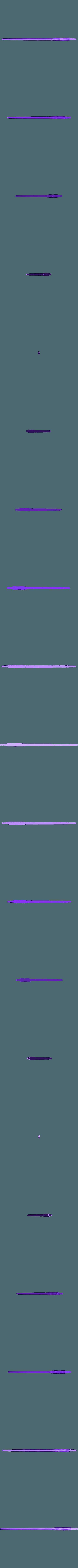 WandHarrypart03A.OBJ Télécharger fichier OBJ gratuit baguette magique harry potter accessoire • Objet à imprimer en 3D, LowSeb
