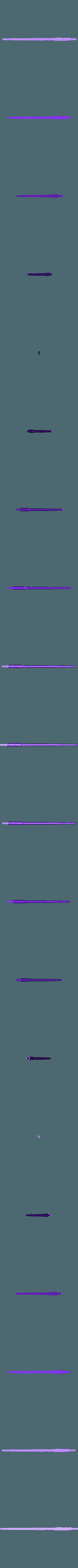 WandHarrypart03B.OBJ Télécharger fichier OBJ gratuit baguette magique harry potter accessoire • Objet à imprimer en 3D, LowSeb