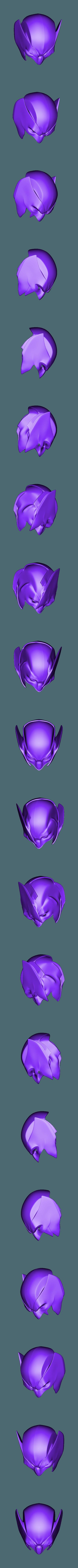 ShortEarBackCut.stl Download STL file Wolverine Mask • 3D printable model, VillainousPropShop