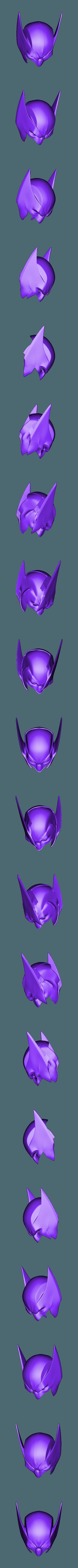 LongEarBackCut.stl Download STL file Wolverine Mask • 3D printable model, VillainousPropShop
