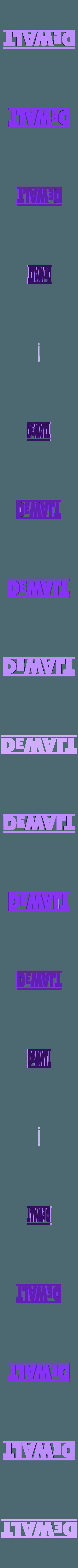 Dewalt Logo.stl Télécharger fichier STL gratuit 1/10 Logos d'outils pour les boîtes à outils de balances • Objet pour imprimante 3D, FrozenRC