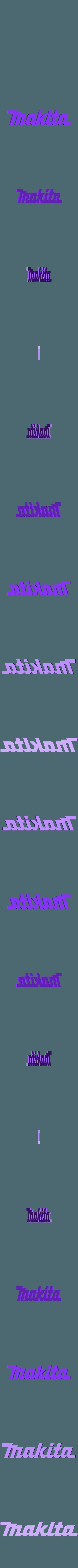 Makita Logo.stl Télécharger fichier STL gratuit 1/10 Logos d'outils pour les boîtes à outils de balances • Objet pour imprimante 3D, FrozenRC