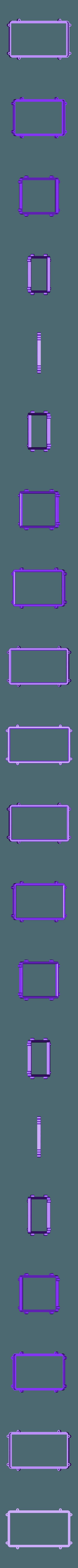 RTS-FRAME.STL Télécharger fichier STL gratuit Raspberry Pi Étui officiel pour écran tactile Raspberry Pi • Modèle pour imprimante 3D, mkellsy