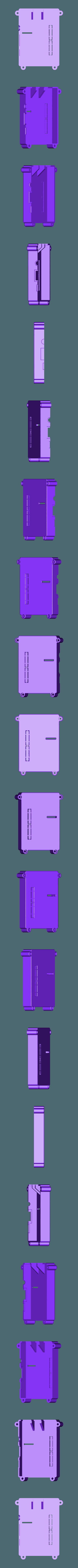 RTS-COVER-SLOTTED-BLANK.STL Télécharger fichier STL gratuit Raspberry Pi Étui officiel pour écran tactile Raspberry Pi • Modèle pour imprimante 3D, mkellsy