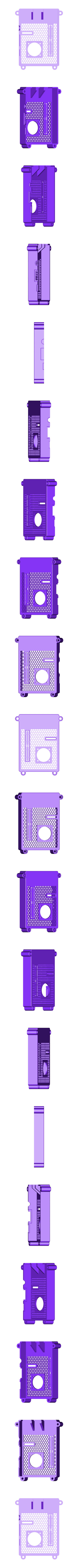 RTS-COVER-25FAN.STL Télécharger fichier STL gratuit Raspberry Pi Étui officiel pour écran tactile Raspberry Pi • Modèle pour imprimante 3D, mkellsy