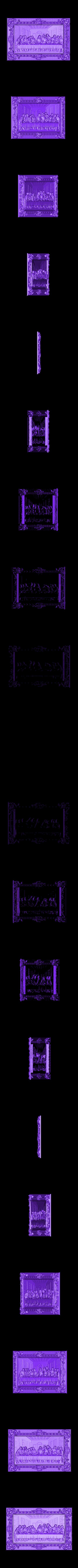 21.stl Télécharger fichier STL gratuit Le dernier dîner La Cène de vinci • Design pour impression 3D, 3DPrinterFiles