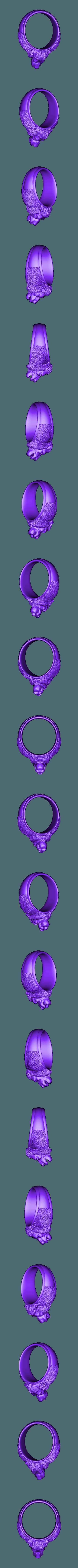 73.stl Télécharger fichier STL gratuit Anneau de lion • Modèle à imprimer en 3D, 3DPrinterFiles