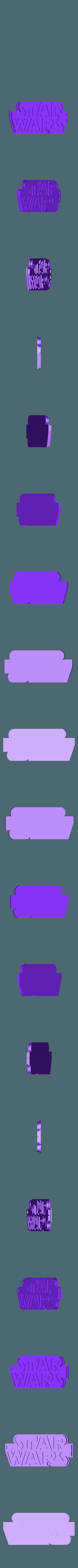 Starwar.STL Download free STL file STARWARS LOGO PLATE • Template to 3D print, Tum