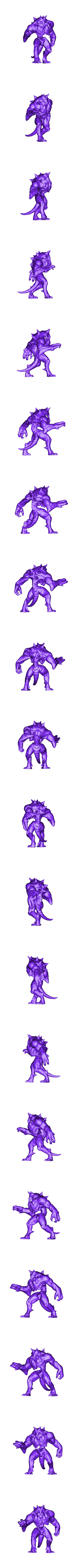 Golem_A1_pose_1.stl Download free OBJ file D&D Golem miniature - pose 1 • 3D printer model, SimonAublet
