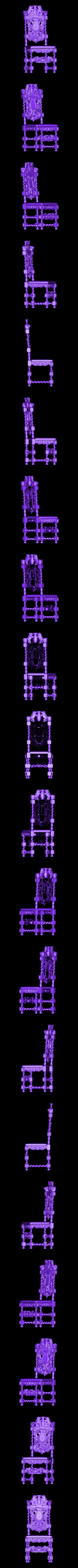014.STL Télécharger fichier STL gratuit renaissance vintage vintage old chair art • Design pour imprimante 3D, 3DPrinterFiles