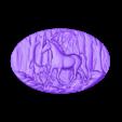 392.stl Télécharger fichier STL gratuit Cheval et son bébé dans la forêt • Modèle à imprimer en 3D, 3Dprintablefile