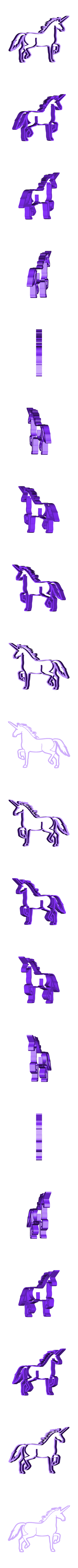 unicorn7.stl Download STL file  8 X UNICORN COOKIE CUTTER • Object to 3D print, mariospeed