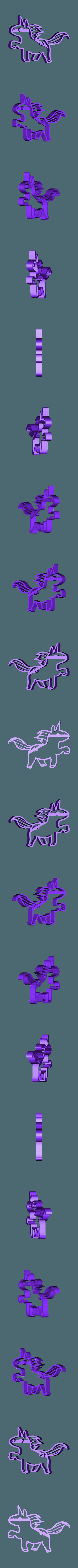 unicorn5.stl Download STL file  8 X UNICORN COOKIE CUTTER • Object to 3D print, mariospeed