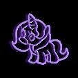 unicorn6.stl Download STL file  8 X UNICORN COOKIE CUTTER • Object to 3D print, mariospeed