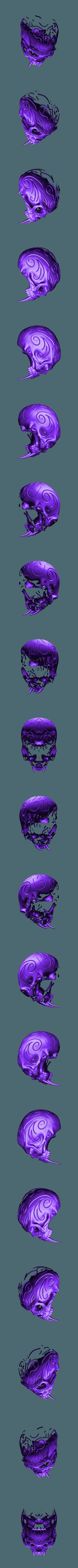 Sabre_skul__3d_print_model2.stl Download free STL file Tribal Sabre Tooth Skull • Model to 3D print, Taran3D