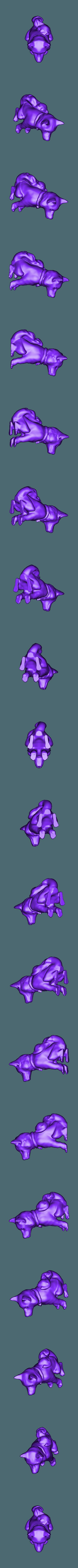 deety painted.obj Télécharger fichier OBJ gratuit Husky en position assise • Design pour impression 3D, Pza4Rza