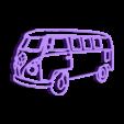 VAN.stl Download STL file Van wolkswagen keychain • 3D printer template, motek
