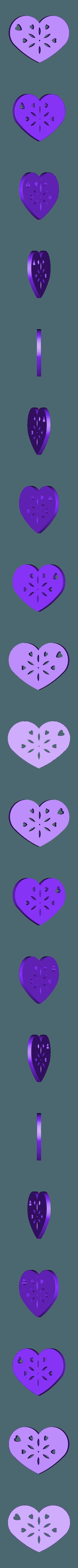 Plate Heart_8.STL Télécharger fichier STL Symbole de la plaque de coeur n°8 • Plan pour impression 3D, Tum