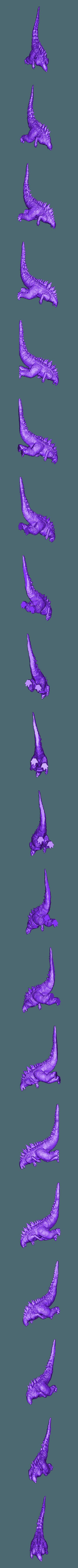 godzilla _opener_2.stl Télécharger fichier OBJ gratuit Godzilla 1954 figurine et ouvre-bouteille • Objet imprimable en 3D, 3D-mon
