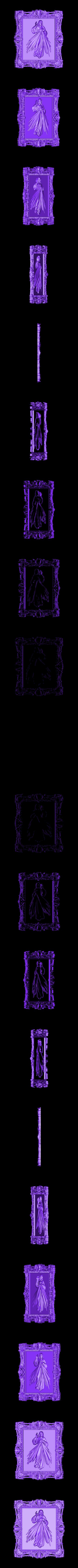 389.stl Download free STL file jesus christ cnc frame art • 3D printable template, STLmodelforfree