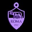 porte clef AS roma.stl Télécharger fichier STL gratuit porte clef AS ROMA • Design à imprimer en 3D, pintusanthony