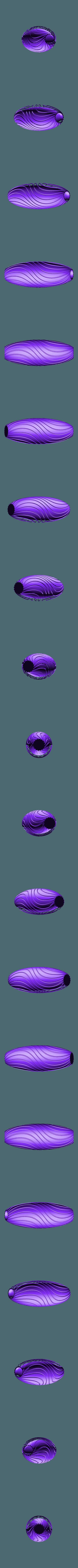 """vase-coquillage-4.stl Download STL file """"Wave motion"""" vase • 3D printable design, 3dgregor"""