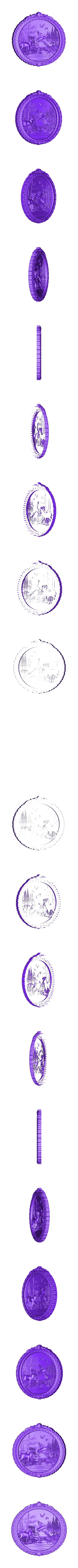 177.stl Télécharger fichier STL gratuit canards et cerfs dans la forêt cadre art cnc routeur cnc • Design à imprimer en 3D, CNC_file_and_3D_Printing