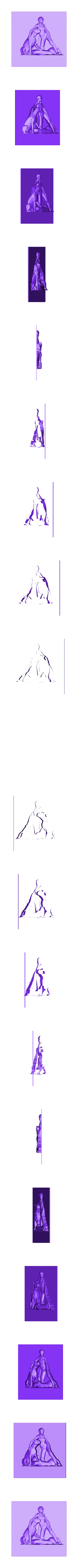 124.stl Download free STL file Hunter with a feline cnc art  • 3D print design, CNC_file_and_3D_Printing