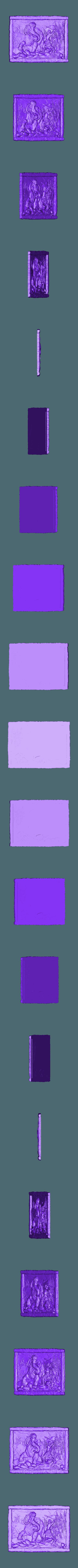 1.stl Télécharger fichier STL gratuit grotte homme des cavernes mammouth cnc art hunt frame • Plan à imprimer en 3D, CNC_file_and_3D_Printing
