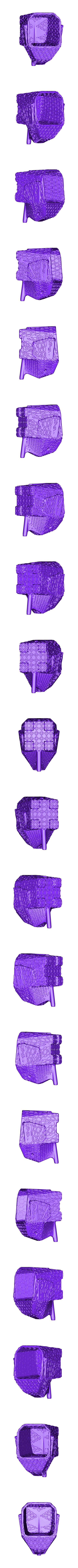 elefante (closed voronoi)_fixed.stl Download free STL file Jumbo Elephant Cutlery Drainer (remix) • 3D printing object, IdeaLab